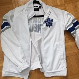 Toronto Maple Leafs White Jacket w/ Bedazzled Back